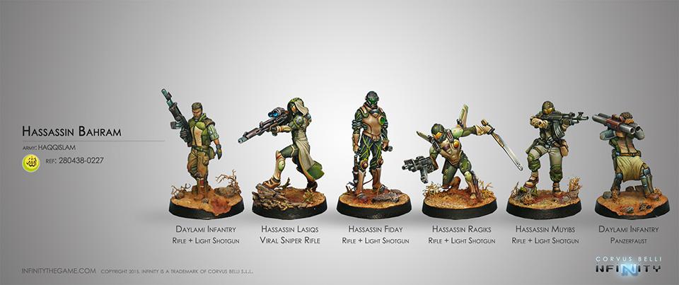 Hassassin Bahram INFINITY Haqqislam Daylami Infantry Rifle//Light Shotgun