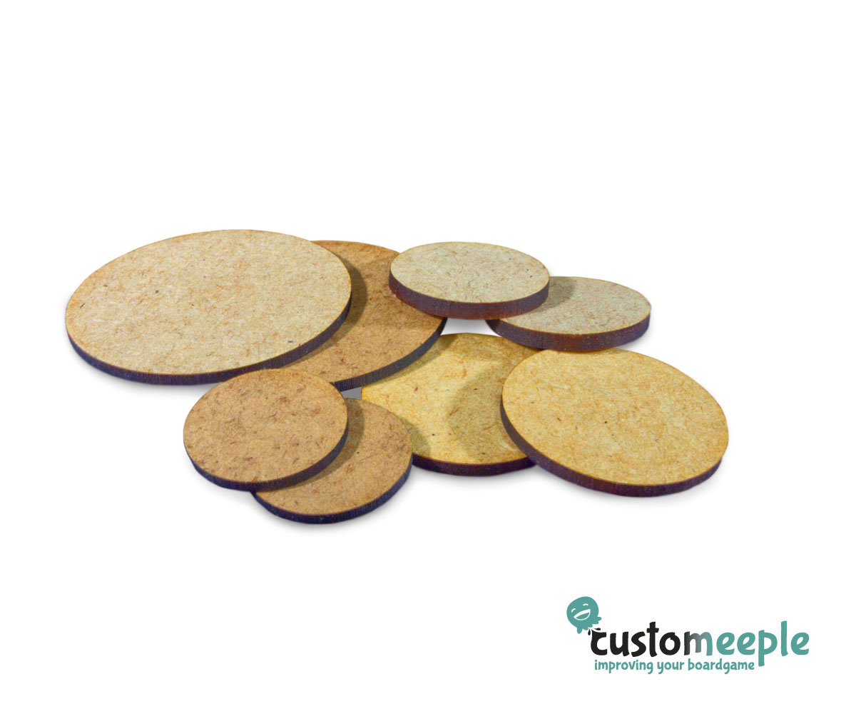 CIRCLE ROUND 26mm NATURAL MDF BASES for Roleplay Miniatures